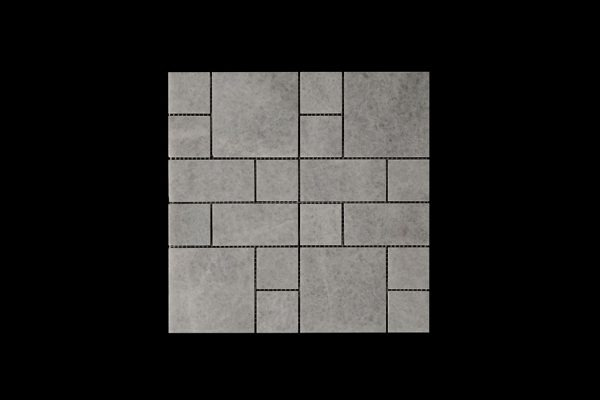White Crystalline Mosaic DK027 Honed