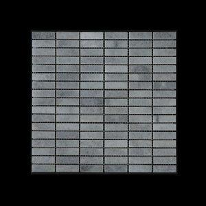 White Crystalline - Nimbus - Small Linear Mosaic DK598 Honed