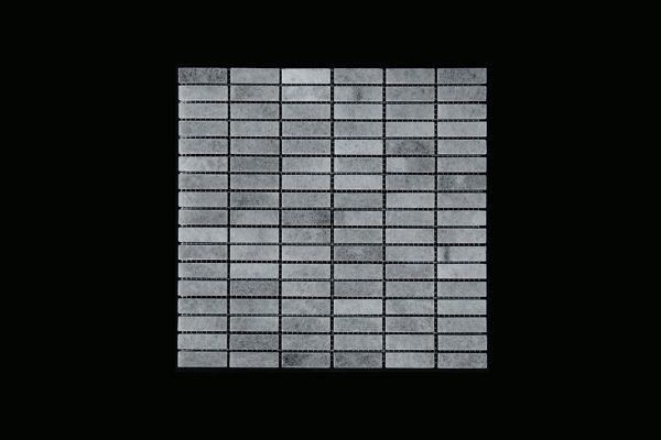 White Crystalline - Nimbus - Small Linear Mosaic DK598 Polished