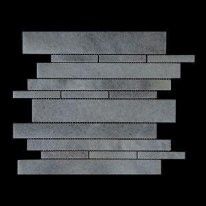 White Crystalline - Offset Linear Mosaic DK 109 Honed