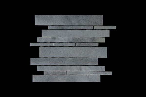 White Crystalline - Offset Linear Mosaic DK 109 Honed