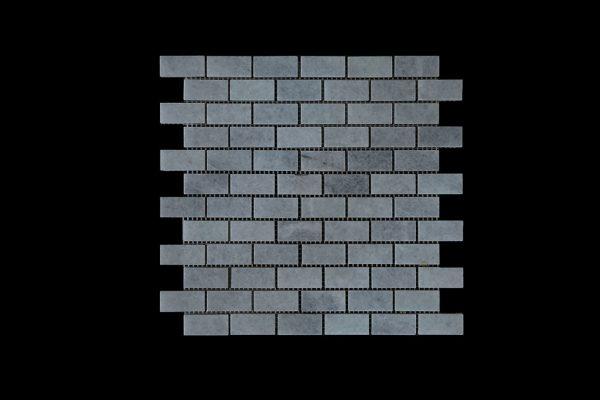 White Crystalline Small Brick Mosaic DK007 Honed