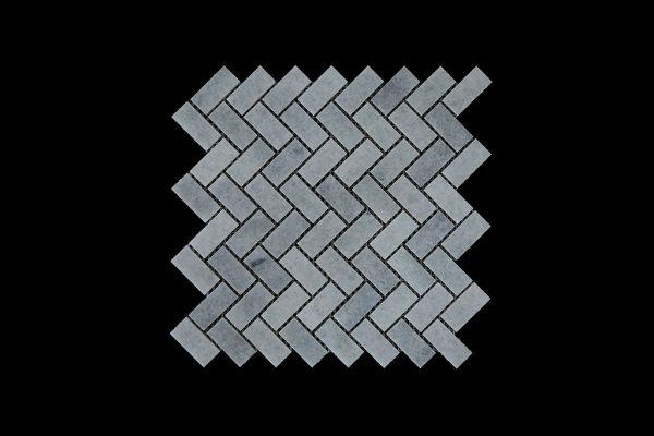 White Crystalline Wave Mosaic DK002 Honed